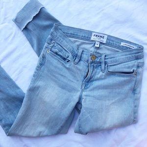 FRAME Le Skinny de Jeanne Cropped Designer Jeans